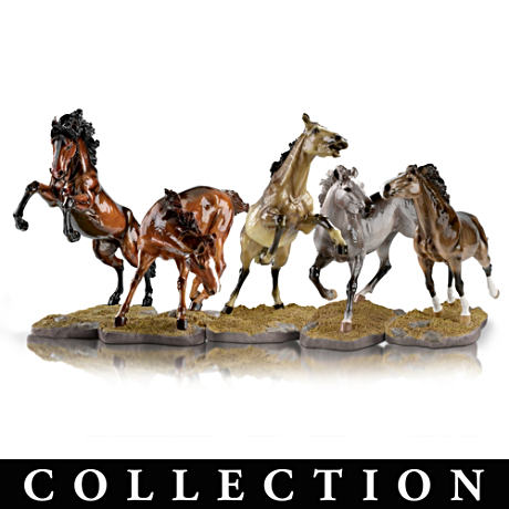 Lifelike Sculptural Wild Horse Figurine Collection