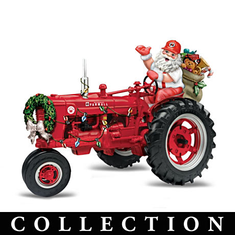 Farmall Tractor Figurine Collection with Santa