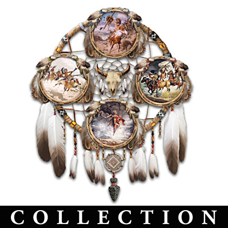 Glow-In-The-Dark Native American-Style Plate Collection