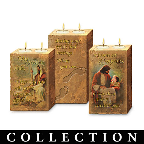 """Footprints Of Faith"" Candleholder Collection"