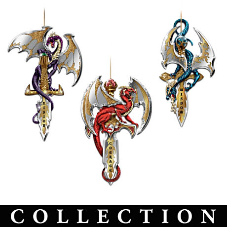 Dragon And Sword Ornament Collection