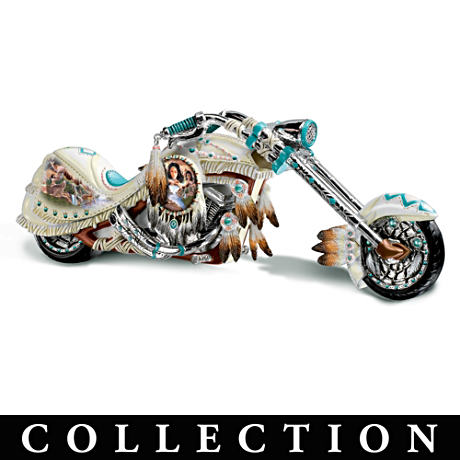 Native American Inspired Motorcycle Figurine Collection