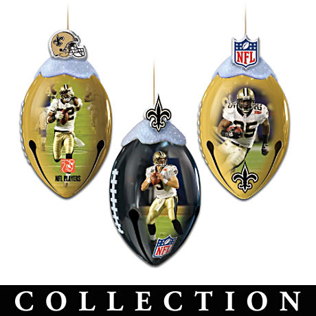 NFL Licensed New Orleans Saints Super Bowl Ornaments