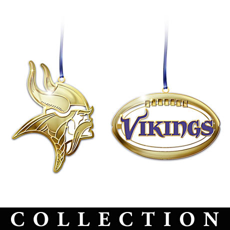 The Official 50th Anniversary Minnesota Vikings Ornaments