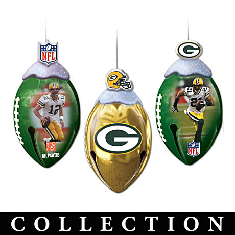 Officially-Licensed Green Bay Packers Football Ornaments