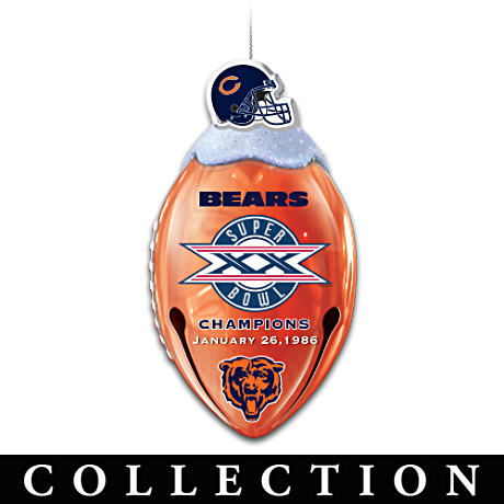Bears Jingle Bells With FREE* Super Bowl XX Ornament