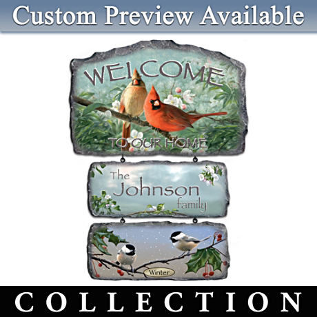 Personalized Hautman Brothers Songbird Art Welcome Sign