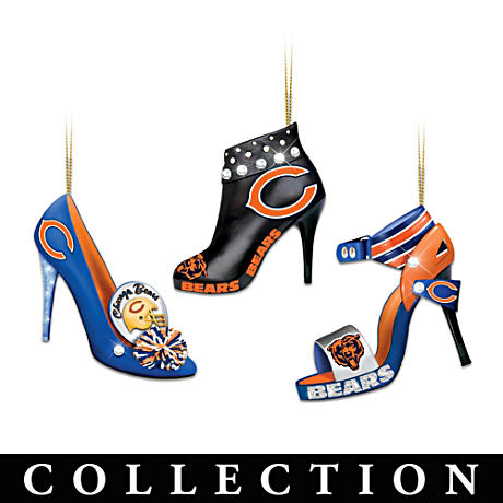 Chicago Bears High Heel Shoe Ornament Collection