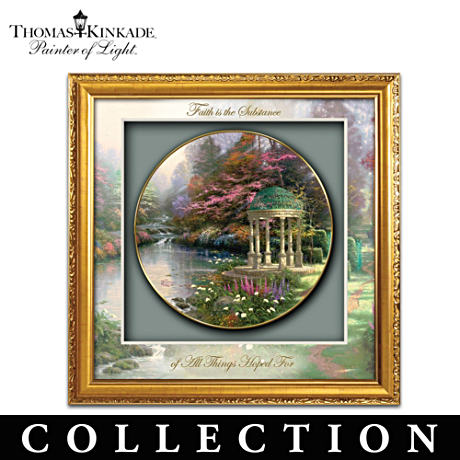 Thomas Kinkade Garden Art Shadowbox Collector Plates