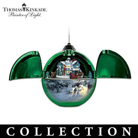 Thomas Kinkade Musical Ornaments With Motion
