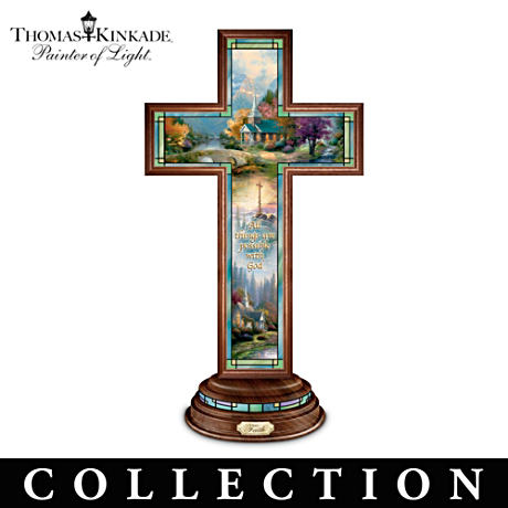 Thomas Kinkade Stained Glass-Style Cross Collection