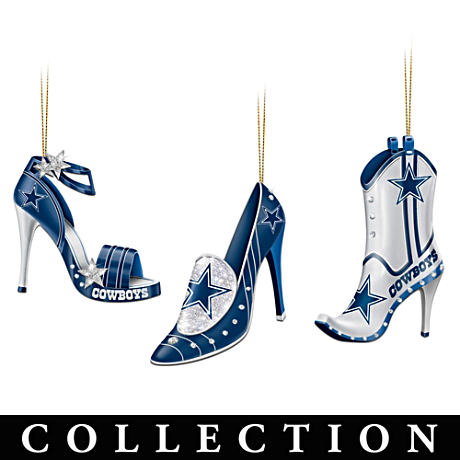 Dallas Cowboys High Heel Shoe Ornament Collection