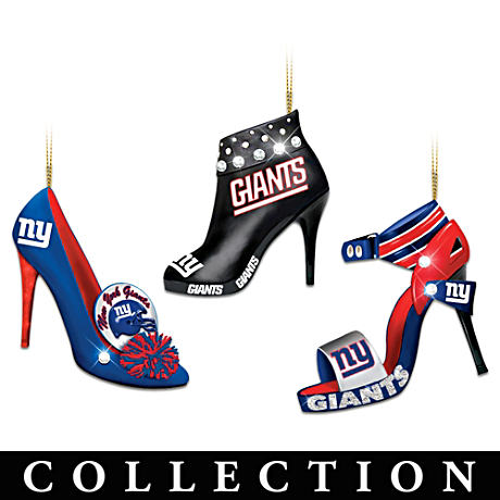 New York Giants High Heel Shoe Ornament Collection
