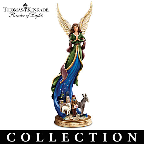 Thomas Kinkade Angel Figurines With Scenes From The Nativity