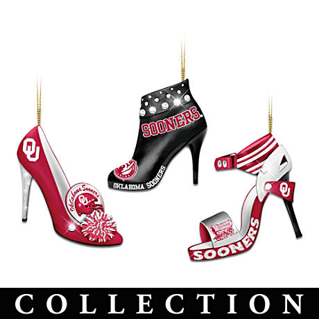 """Oklahoma Sooners ""Stilletto"" Christmas Ornament Collection"