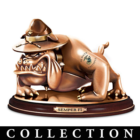 USMC Devil Dog Cold-Cast Bronze Tribute Sculpture Collection