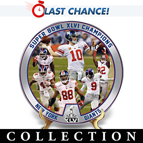 New York Giants Super Bowl XLVI Champs Plate Collection