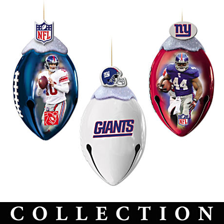Giants Super Bowl XLVI Football Christmas Ornaments