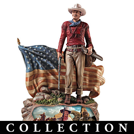 John Wayne American Hero Patriotic Sculptures
