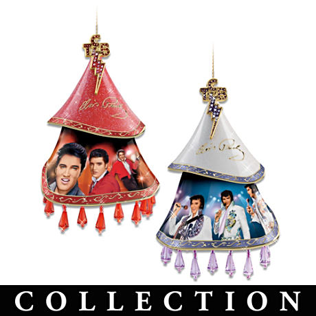 Elvis Legacy Tribute Porcelain Ornament Collection