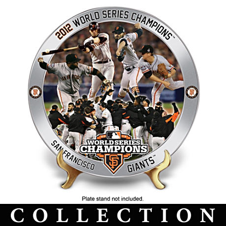 San Francisco Giants 2012 World Series Commemorative Plates