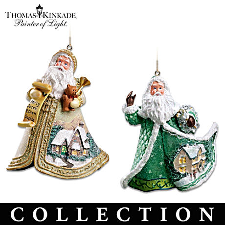 Thomas Kinkade Sugar-Coated Santas Ornament Collection