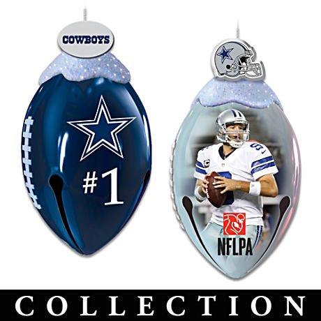 NFL-Licensed Dallas Cowboys Jingle Bell Ornaments