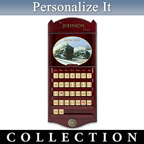 """Seasons Of Steam"" Perpetual Calendar With Your Family Name"