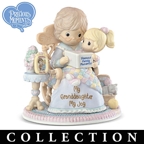 "Precious Moments ""Blessed Granddaughter"" Porcelain Figurines"