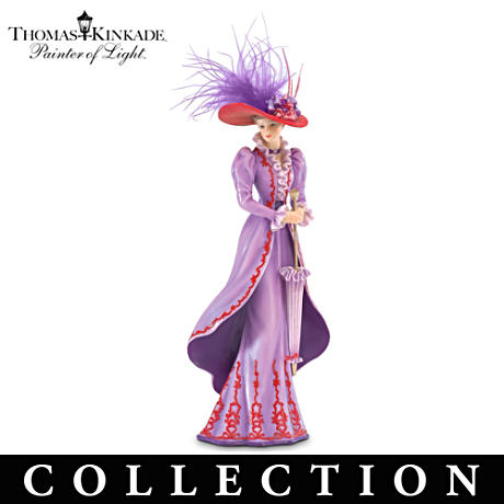 "Thomas Kinkade ""Fancy Hatters"" Victorian Figurine Collection"