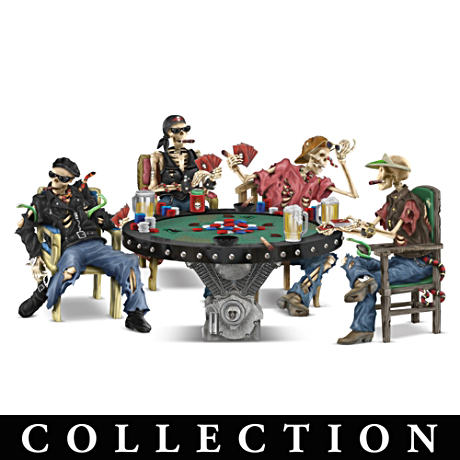 """Crypt Poker"" Skeleton Figurine Collection"