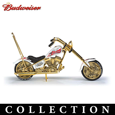 Officially Licensed Budweiser Motorcycle Figurine Collection