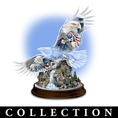 """United We Soar"" American Bald Eagle Figurine Collection"