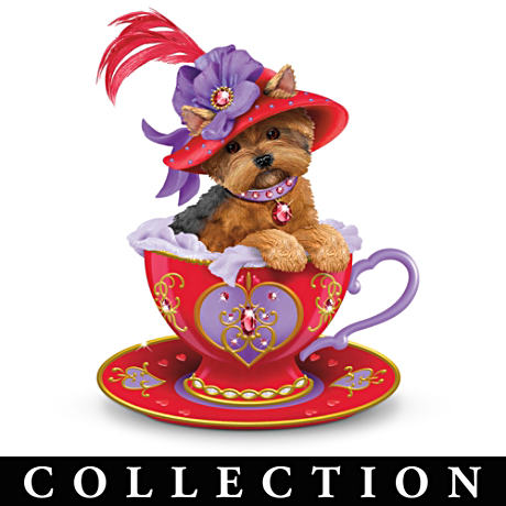 "Yorkshire Terrier ""Flamboyant Personali-teas"" Figurines"
