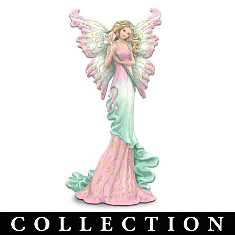 """Butterfly Wishes"" Breast Cancer Support Figurine Collection"