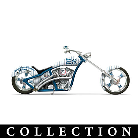 Sculpted Yankees Motorcycles With Hand-Applied Graphics