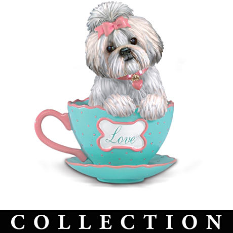 """Shih Tzus With Personali-Tea"" Figurine Collection"