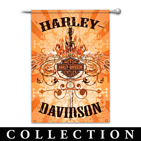 Harley-Davidson Flag Collection With Iconic Harley Symbols