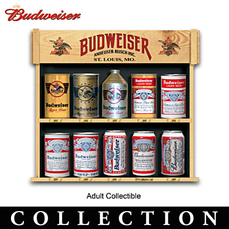 Historic Vintage Budweiser Can Replicas With Collector Cards
