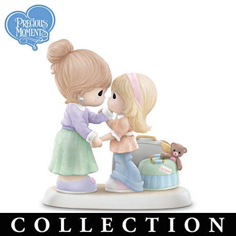 Precious Moments Mother And Daughter Porcelain Figurines