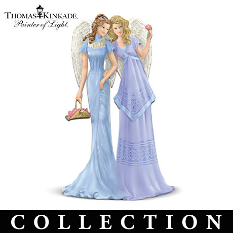 "Thomas Kinkade ""Loving Sister Angels"" Figurines"