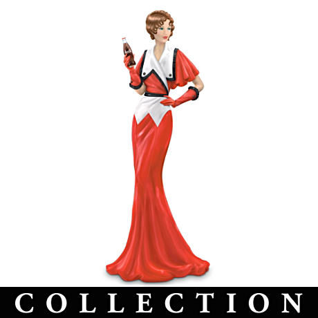 """Coca-Cola Girls"" Figurines Depict Fashions From Ads"