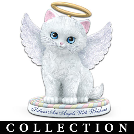 Kitten Angel Figurine Collection With Lifelike Features