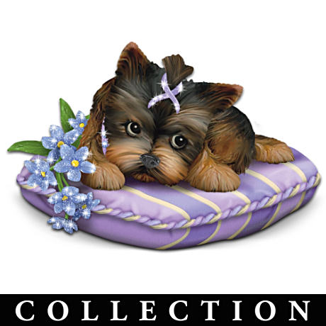 Yorkie Figurine Collection Supports Alzheimer's Research