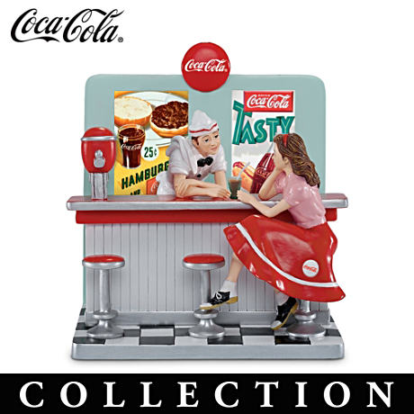Retro Coca-Cola All-American Diner Figurine Collection