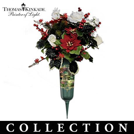 Thomas Kinkade Seasonal Memorial Bouquet Collection