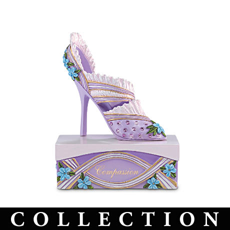 Alzheimer's Support Purple Shoe Figurine Collection