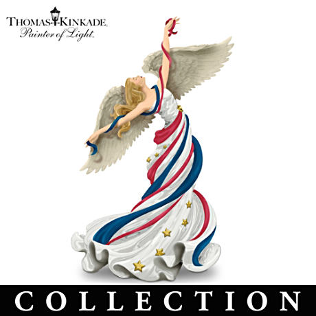 Thomas Kinkade Patriotic Angel Figurine Collection
