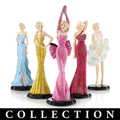 Marilyn Figurines In Iconic Gowns With Swarovski Crystals