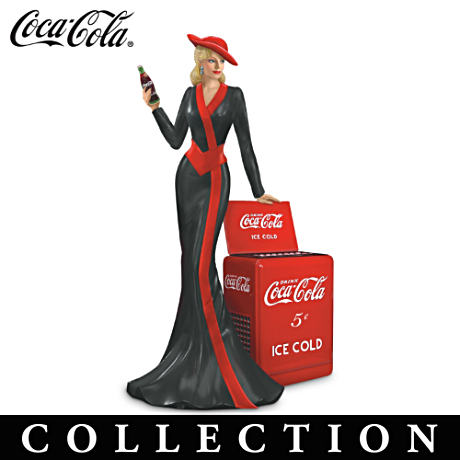 Coca-Cola Lady Figurine Collection With '40s Vintage Details